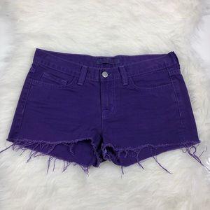 J Brand Purple Cut Off Jean Shorts